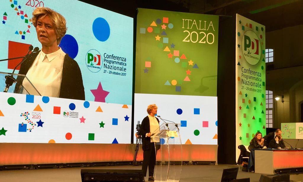 """Roberta Pinotti alla conferenza programmatica del PD """"Italia 2020"""""""