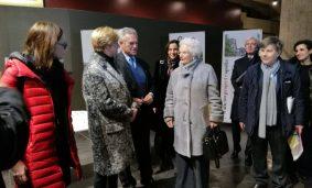Roberta Pinotti al Memoriale della Shoah con Liliana Segre e Roberto Jarach